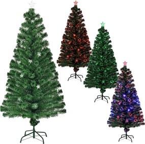 [en.casa]® Farebný stromček s optickými vláknami - 180 cm
