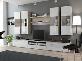 CAMA MEBLE Obývacia stena DREAM 1 Farba: dub svetlý/biela