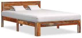 vidaXL Posteľný rám, drevený masív sheesham 120x200 cm