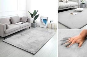 Svetlo-šedý koberec Rabbit 120x170cm