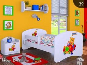 Posteľ Happy Biela 180x90 - Výpredaj