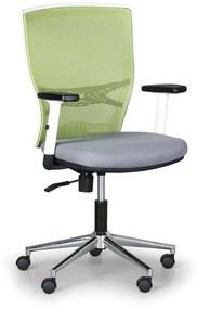Kancelárska stolička HAAG, zelená / sivá