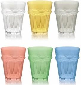 Sada 6 farebných pohárov Villa d'Este Bicchieri Floyd, 270 ml