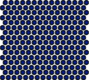 Keramická mozaika Premium Mosaic modrá 30x31 cm lesk MOS19DBL