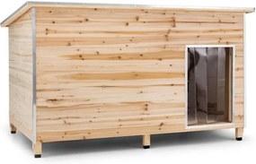 OneConcept Schloss Wuff, psia búda, veľkosť L, 90 x 120 x 90 cm, izolovaná, závetrie, drevo