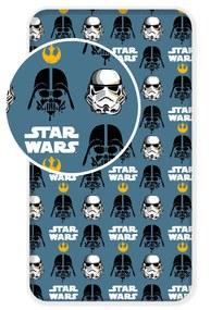 Jerry Fabrics Detské prestieradlo Star Wars gold, 90x200 cm - šedé