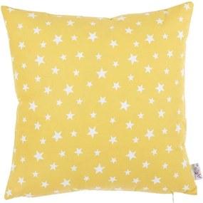 Žltá bavlnená obliečka na vankúš Apolena Rujo, 35 x 35 cm