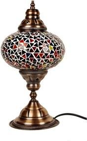 Sklenená lampa Homemania Oriental, ⌀ 17 cm