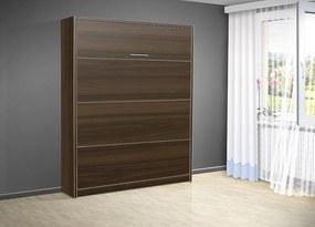 Sklápacia posteľ VS 3054 P - 200x180 cm nosnost postele: štandardná nosnosť, farba lamina: orech 729