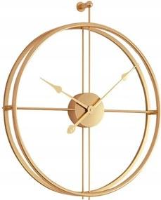 Tutumi 3D nástenné hodiny Coat 60 cm zlaté