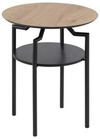 Dizajnový odkladací stolík Aitor, divoký dub