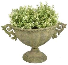 Kovová široká váza na kvetiny Esschert Design