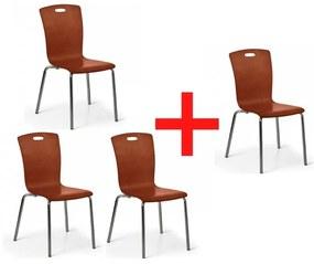Jedálenská stolička Rita, orech, 3+1 ZADARMO
