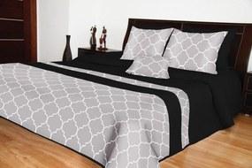 DomTextilu Prikrývky na posteľ čierne luxusné Šírka: 170 cm   Dĺžka: 210 cm 11379-124035