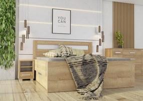 Wood Service Posteľ Stela Kráľovská výška s úložným priestorom 200 x 200
