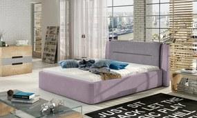 NABBI Portima 140 čalúnená manželská posteľ ružová / fialová