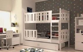 Jakub 5 180x80 Biela poschodová posteľ