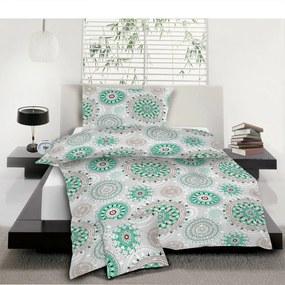 Jahu Bavlnené obliečky Mandala tyrkys, 140 x 200 cm, 70 x 90 cm, 40 x 40 cm