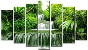 Tlačený obraz Vodopád v dažďovom pralese 140x80cm 2353A_7B