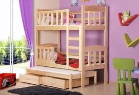 Poschodová posteľ s prístelkou Defi