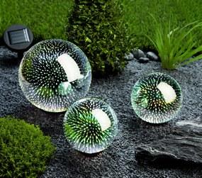 Solárne záhradné dekorácie Emócie, súprava 3 ks
