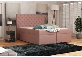 Elegantná čalúnená posteľ 120x200 ALLEFFRA - ružová 1
