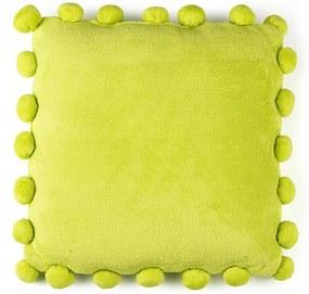 BO-MA Vankúšik Pompon zelená, 45 x 45 cm,