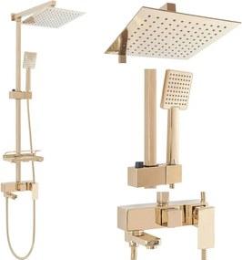 Rea Jack - sprchový set s otočným vaňovým výtokom, zlatá, REA-P7008