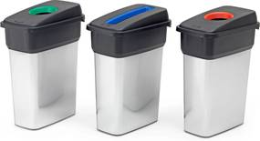 Odpadkové koše na triedenie odpadu Easton, 3 x 55 L