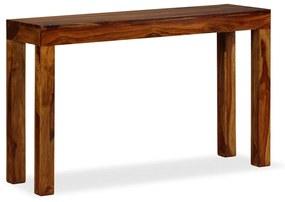 vidaXL Konzolový stolík, drevený masív sheesham, 120x35x75 cm