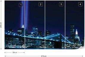 Fototapeta GLIX - New York City Brooklyn Bridge + lepidlo ZADARMO Vliesová tapeta  - 254x184 cm