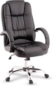 TEMPO KONDELA Madox kancelárske kreslo čierna / chróm