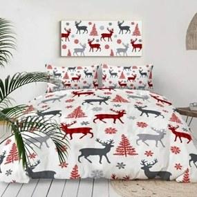 HOD Hebké Vianočné mikroplyš obliečky CHRISTMAS 140x200cm vankúš 70x90cm