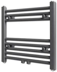 Rebríkový radiátor na centrálne vykurovanie, rovný, 480 x mm, šedý