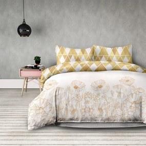 AmeliaHome Flanelové obliečky Golden poopy, 140 x 200 cm, 70 x 90 cm