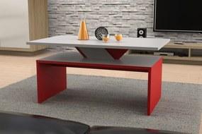Mazzoni SISI sivý kameň + červený, konferenčný stolík