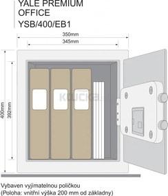 YALE PREMIUM office YSB/400/EB1 trezor