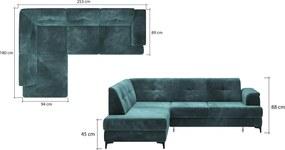 Moderná rohová sedačka Nomen - AKCIA