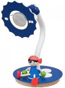Elobra PIRATENWELT 126110 Stolná lampa pre deti modrý drevo 1 x GU5.3 max. 2.5 Watt IP20