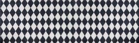 Zala Living - Hanse Home koberce Protiskluzový běhoun Home Black Grey 103167 - 50x150 cm