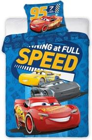 Obliečky Cars Blesk McQueen 04 140x200 70x90 cm 100% Bavlna Faro