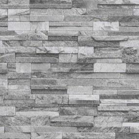 Vliesové tapety na stenu Origin 42106-40, kameň pieskovec sivý, rozmer 10,05 m x 0,53 m, P+S International