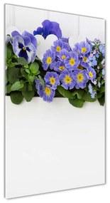 Foto obraz akrylové sklo Fialové kvety pl-oa-70x140-f-99973378