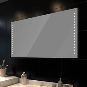 vidaXL Kúpeľňové zrkadlo s LED svietidlami 100 x 60 cm (D x V)