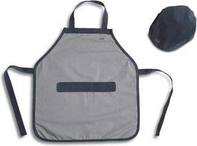 Sivá detská pracovná zástera s čapicou Flexa Toys Builder´s Costume
