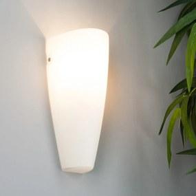 Sklenené nástenné svietidlo Hermine v bielej
