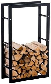 Stojan na palivové drevo Keri V3 25x80x100, čierny