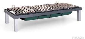 DREVONA Lamelové jednolôžko s úložným priestorom šedé 80x200 SKELETON
