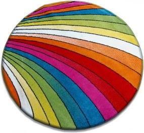 Detský kusový koberec Dúha viacfarebný kruh, Velikosti 100cm