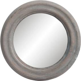 Okrúhle zrkadlo v drevenom ráme - Ø 22 * 2 cm
